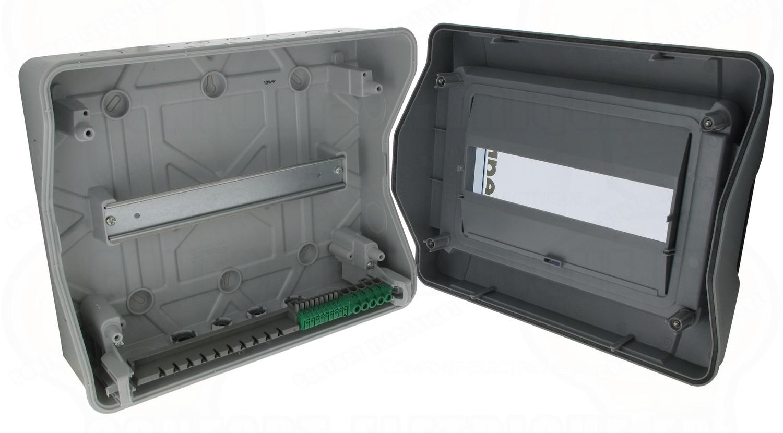 coffret legrand plexo 1x12 modules ip 65 ik09 gris 83. Black Bedroom Furniture Sets. Home Design Ideas