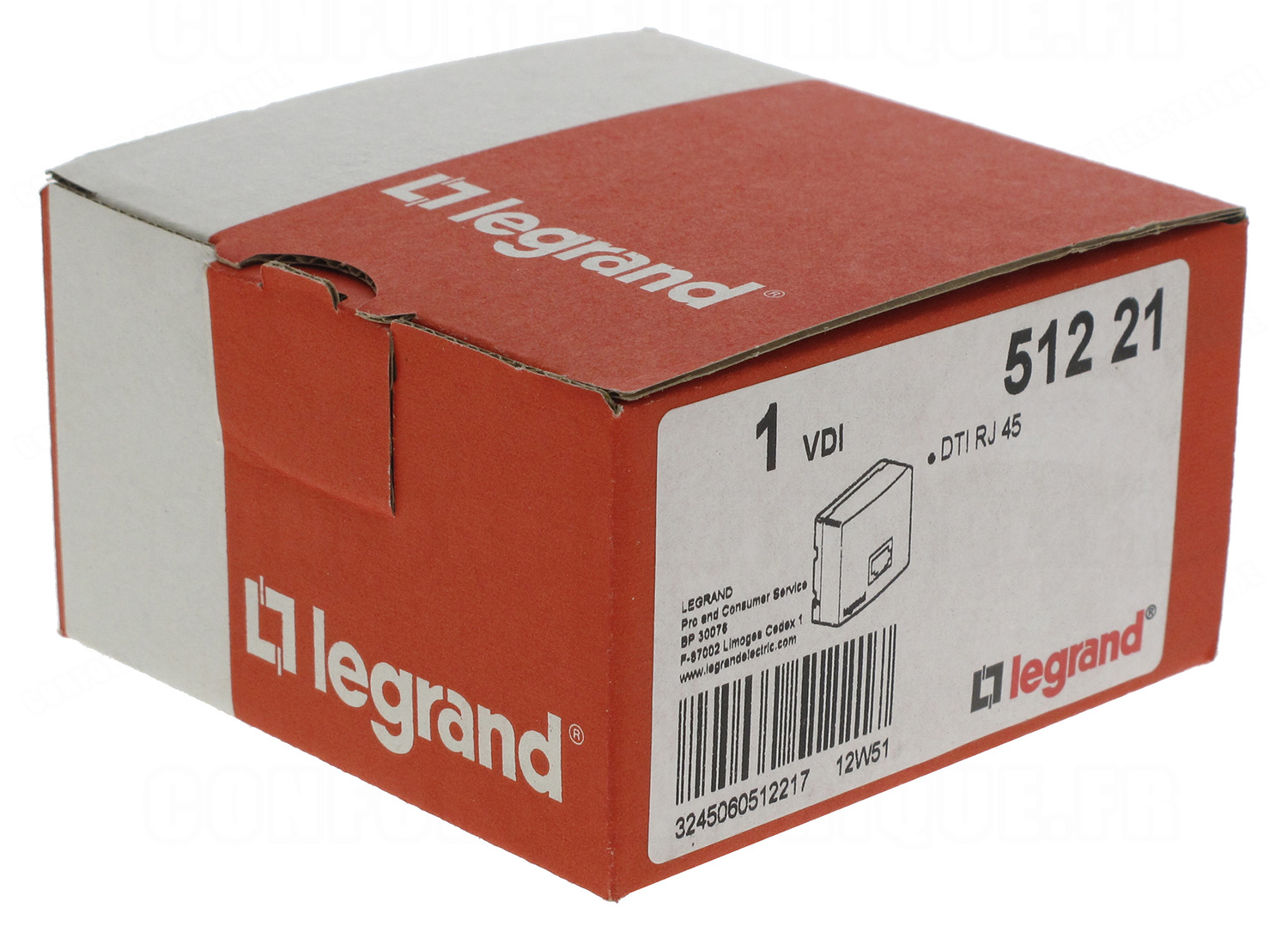 dti format rj45 pour coffret de communication legrand 32 6. Black Bedroom Furniture Sets. Home Design Ideas