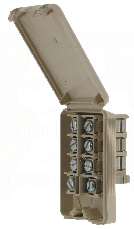 prise t l phone male 8 contacts pour cordon 10 01. Black Bedroom Furniture Sets. Home Design Ideas