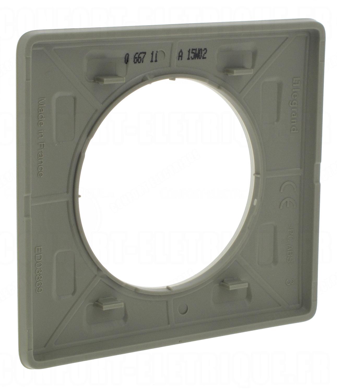 plaque legrand c liane 1 poste argile 4 88. Black Bedroom Furniture Sets. Home Design Ideas