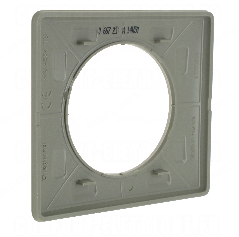 plaque legrand c liane 1 poste gr s 4 88. Black Bedroom Furniture Sets. Home Design Ideas