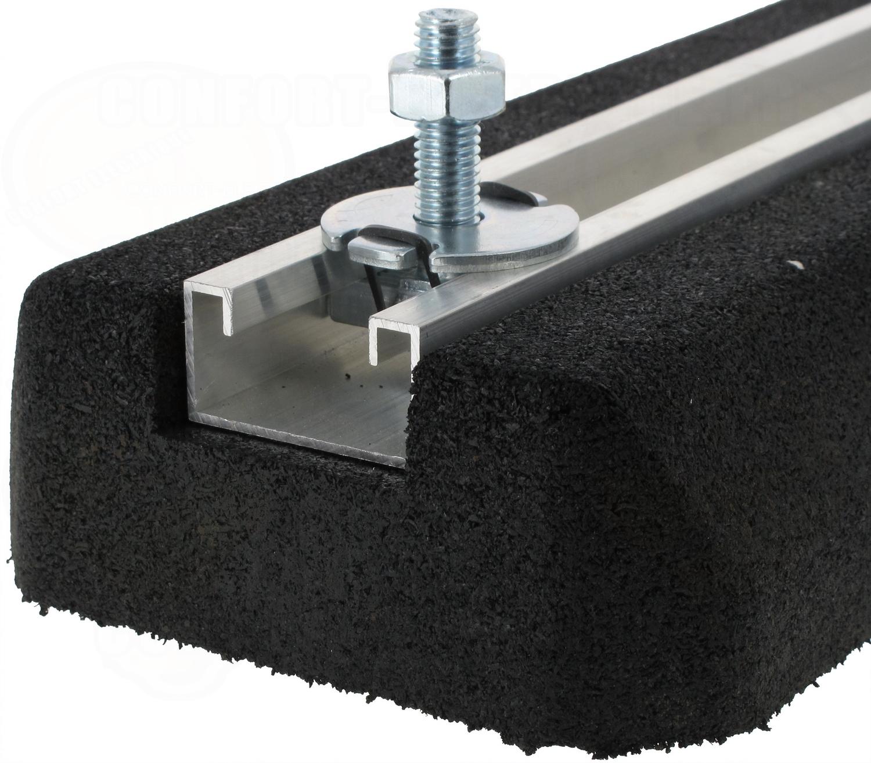 support au sol anti vibratiles rubber foot 400 x 180 x 50 mm. Black Bedroom Furniture Sets. Home Design Ideas