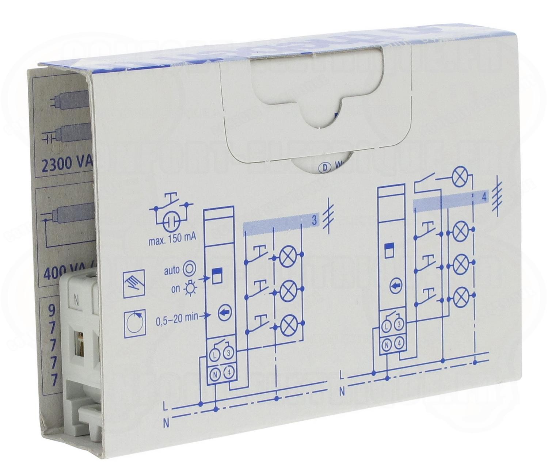 minuterie 230 v 1 contact r glable de 0 5 20 min theben el. Black Bedroom Furniture Sets. Home Design Ideas