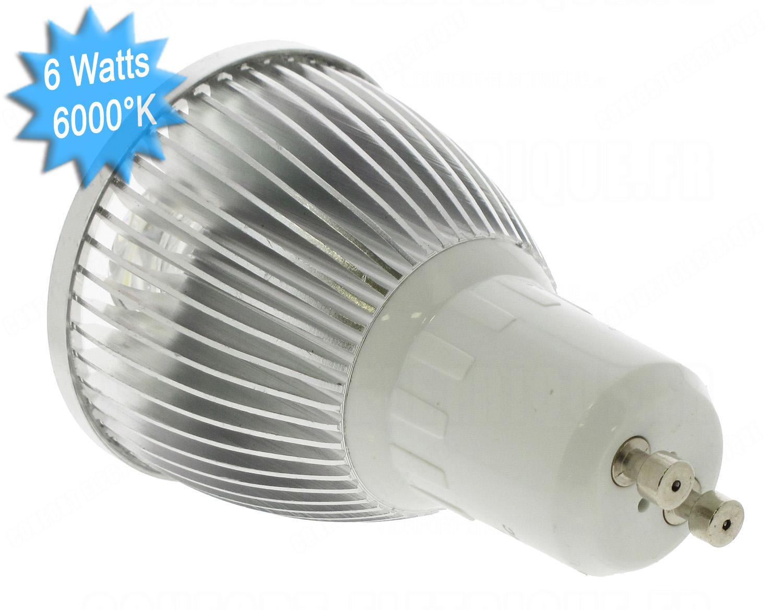 lampe led vision el gu10 6 watts 6000k 230 volts 14 90. Black Bedroom Furniture Sets. Home Design Ideas
