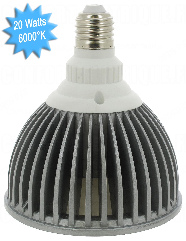 ampoule led vision el e27 par38 20w 6000k 230 volts 19 4. Black Bedroom Furniture Sets. Home Design Ideas
