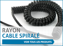 Rayon cable spiralé