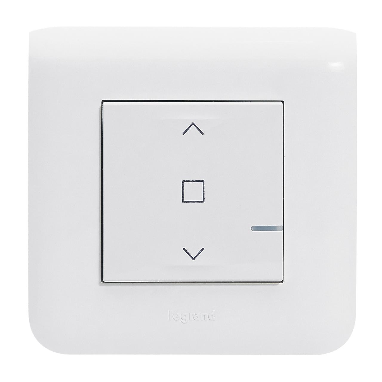 interrupteur connect pour volets roulant filaire blanc. Black Bedroom Furniture Sets. Home Design Ideas