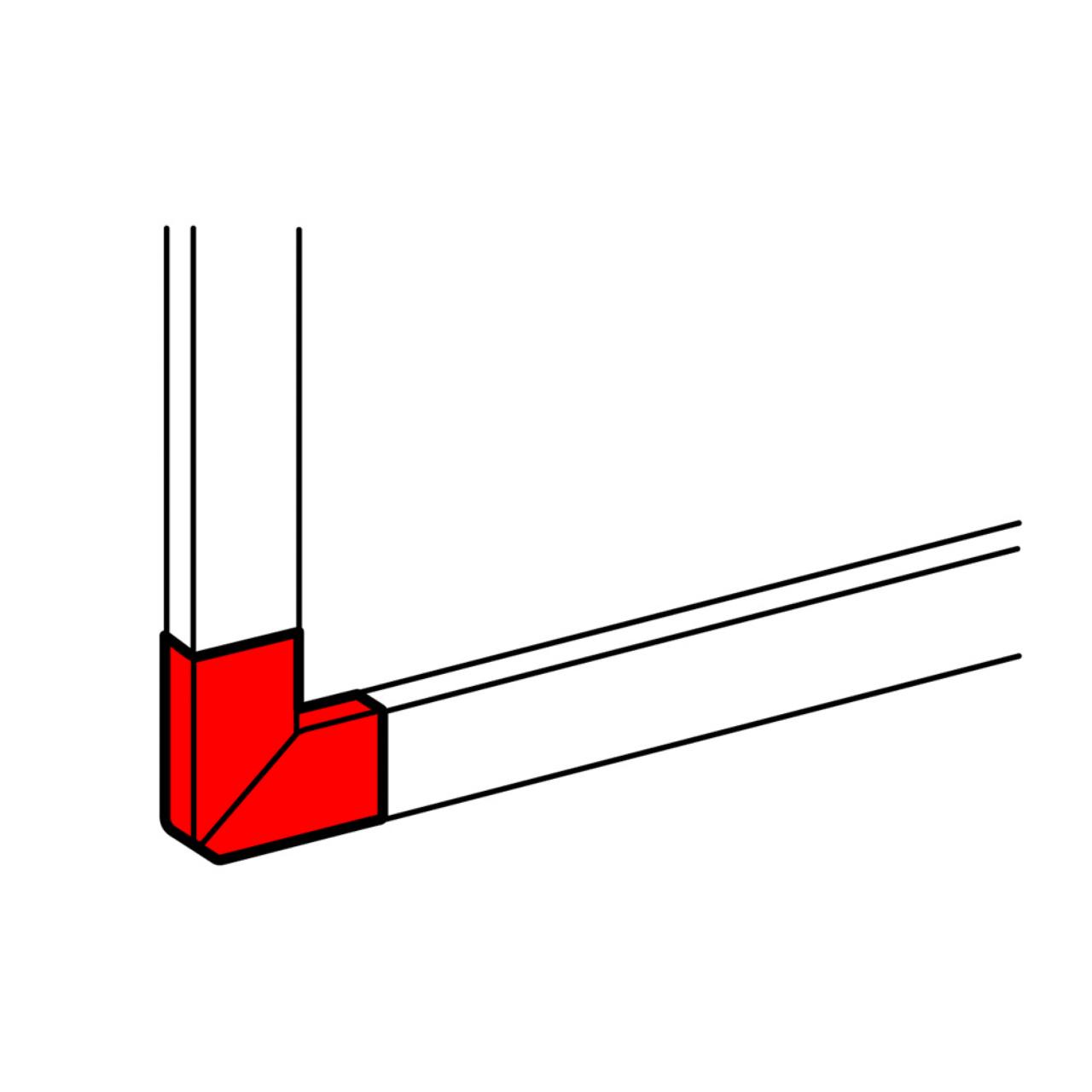Goulotte Pour Plafond angle extÉrieur pour goulotte 195 x 65 mm - blanc - legrand dlp 010793