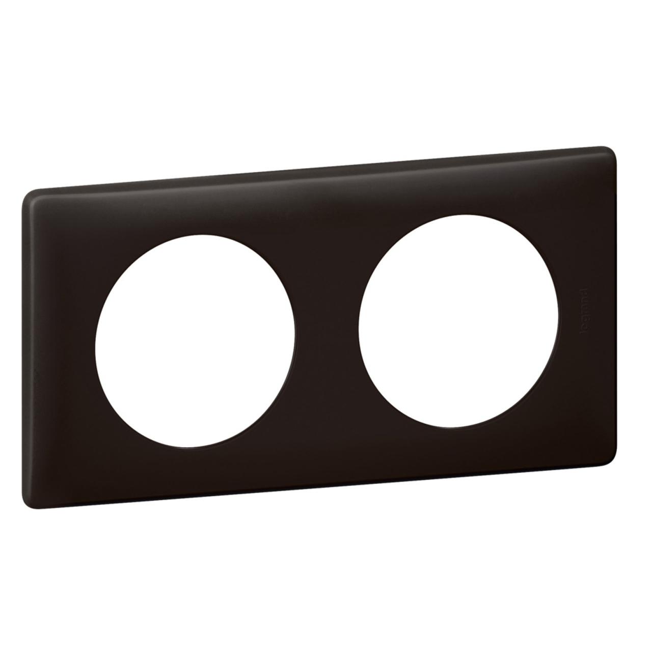 plaque legrand c liane 2 postes basalte 9 94. Black Bedroom Furniture Sets. Home Design Ideas