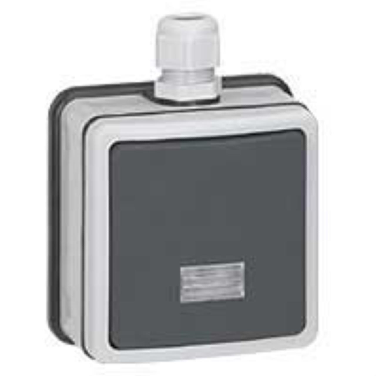 bouton poussoir lumineux legrand plexo 66 gris complet. Black Bedroom Furniture Sets. Home Design Ideas