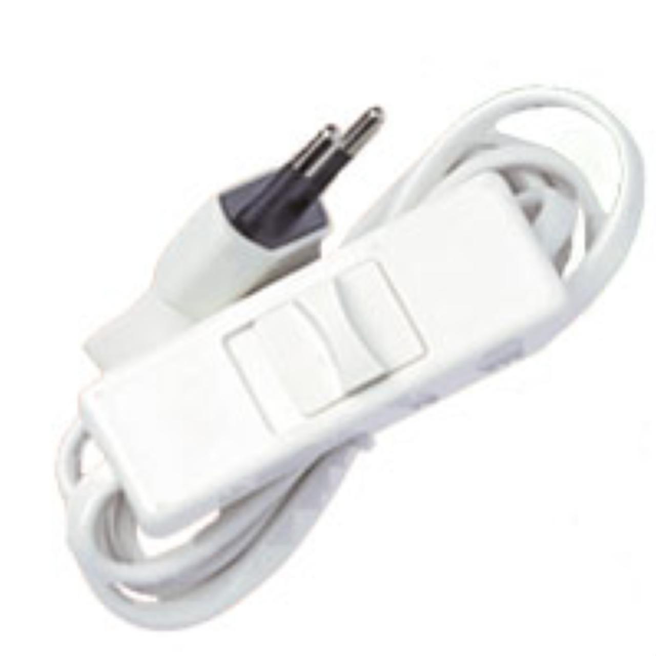 Cordon Electrique Pour Lampe cordon 2x0.75mm2 longueur 1.5m pré-équipé pour lampe blanc -..