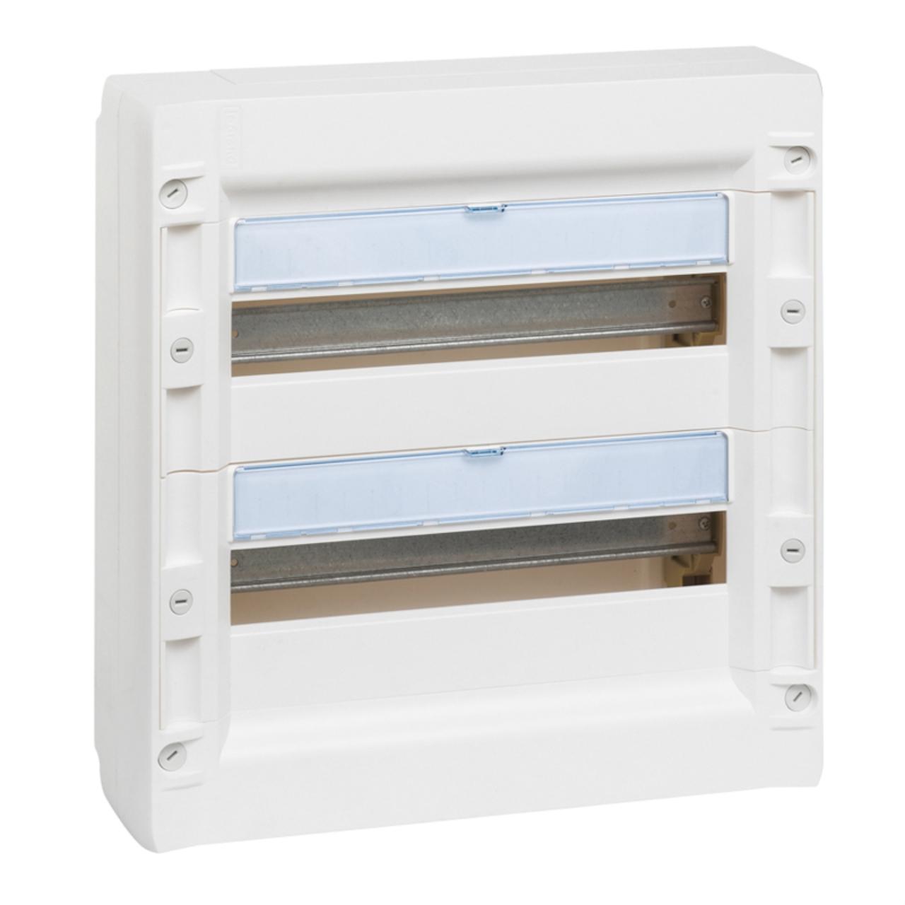 coffret legrand xl 125 2 x 18 modules poser en saillie. Black Bedroom Furniture Sets. Home Design Ideas