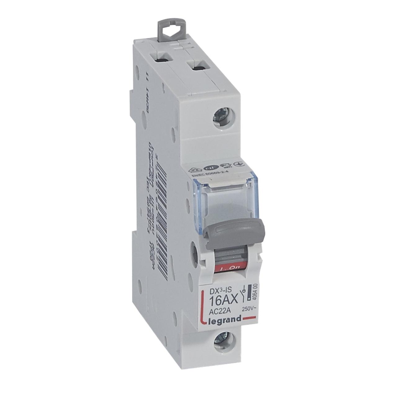 Interrupteur sectionneur legrand dx3 16a 1 pole 11 98 - Armoires electriques legrand ...