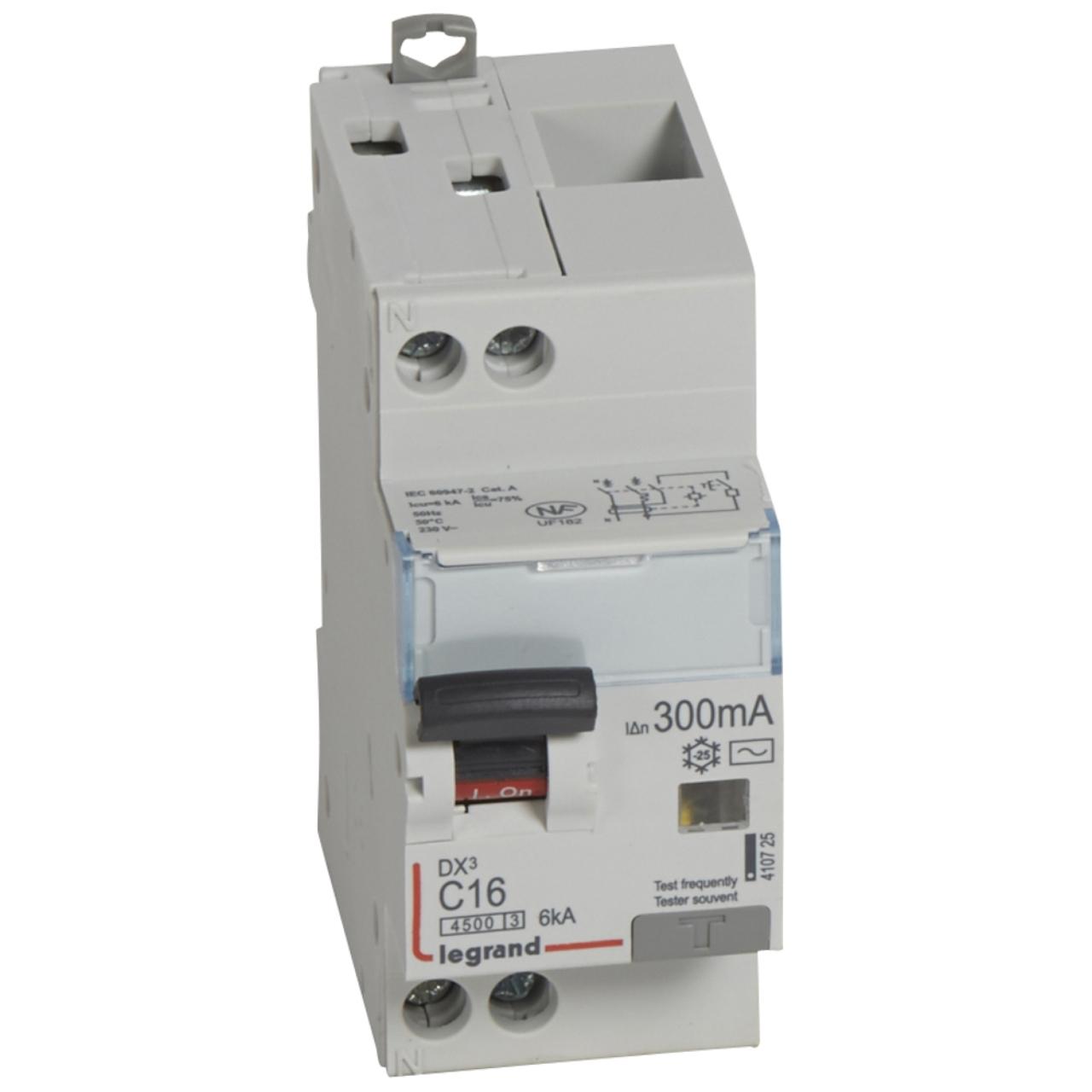 vis 6ka disjoncteur diff/érentiel legrand dx3 40a courbe c 30ma 2 poles type ac vis