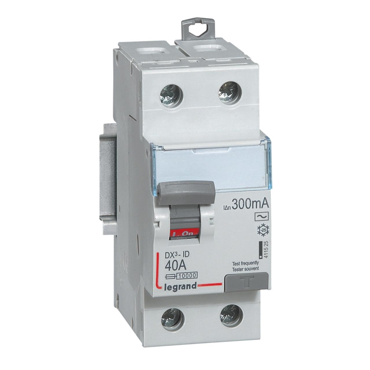 vis vis interrupteur diff/érentiel legrand dx3 25a 30ma 2 poles type ac