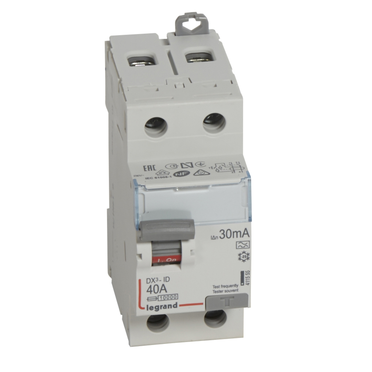 Interrupteur diff rentiel legrand dx3 40a 30ma 2 poles type - Disjoncteur differentiel type a ...