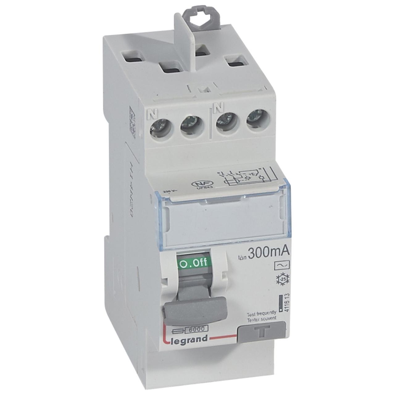 Interrupteur différentiel Legrand DX3 25A 300mA 2 Poles type AC - Vis   Vis d9782ad77b7c