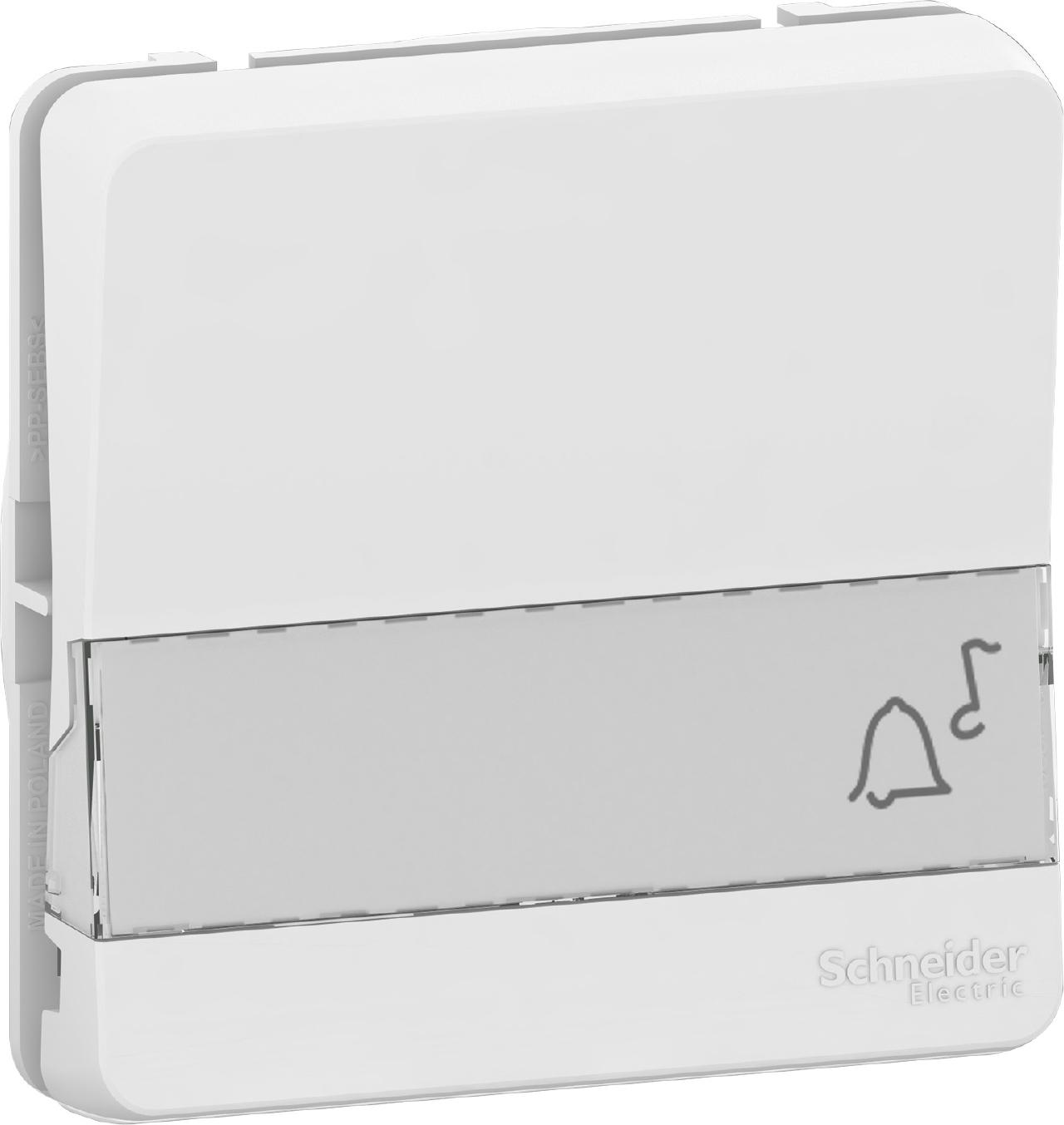 Bouton poussoir porte-étiquette blanc Schneider Electric Mureva Styl