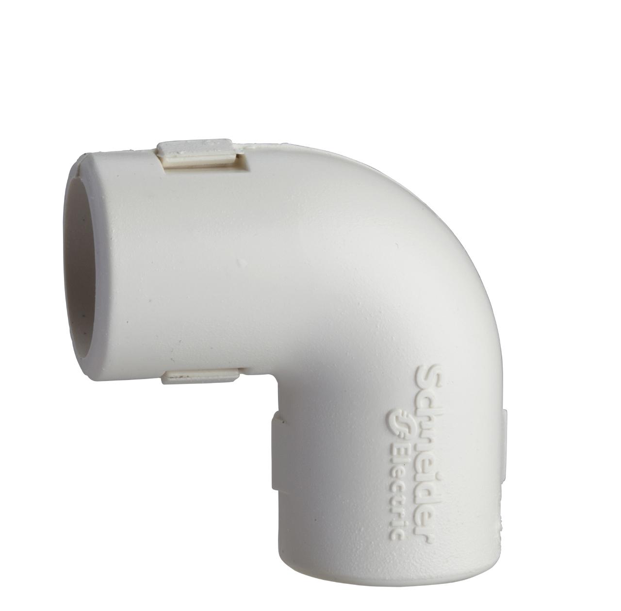 coude querre pour tube irl 3321 diam tre 20 mm blanc. Black Bedroom Furniture Sets. Home Design Ideas