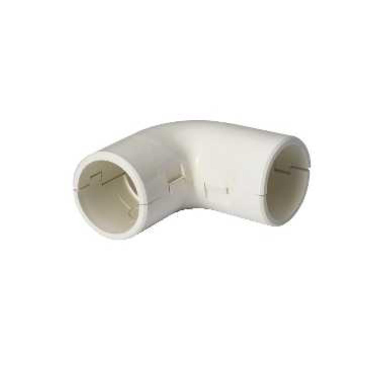 coude querre pour tube irl 3321 diam tre 25 mm blanc. Black Bedroom Furniture Sets. Home Design Ideas