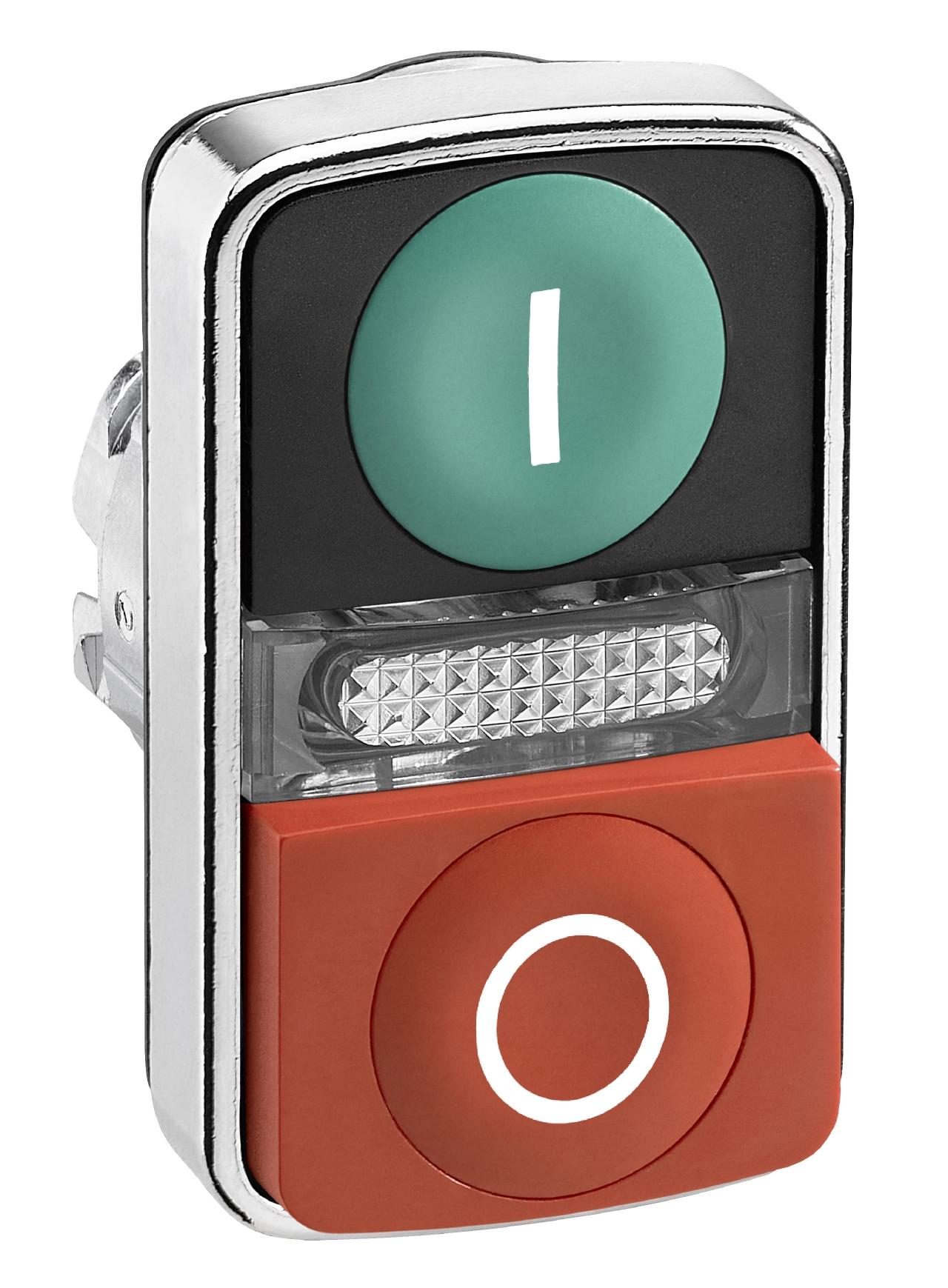 t te bouton poussoir double lumineux schneider zb4bw7l3. Black Bedroom Furniture Sets. Home Design Ideas
