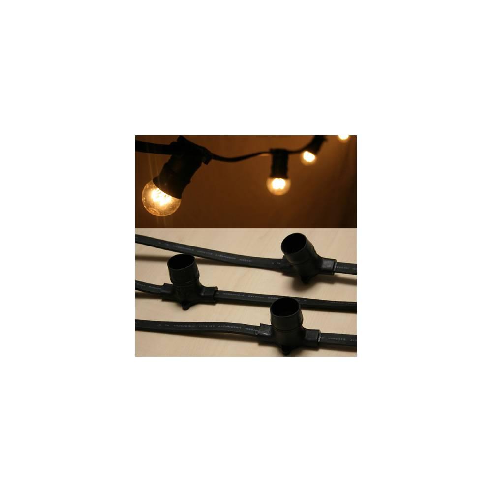 Guirlande de 50 m tres avec 140 douilles b22 festilight 30 for Guirlande lumineuse exterieur 50 metres