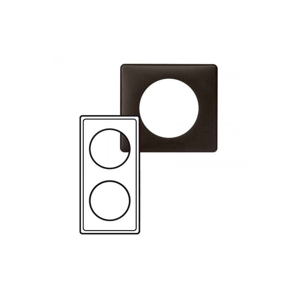 plaque legrand c liane 2 postes basalte 9 71. Black Bedroom Furniture Sets. Home Design Ideas