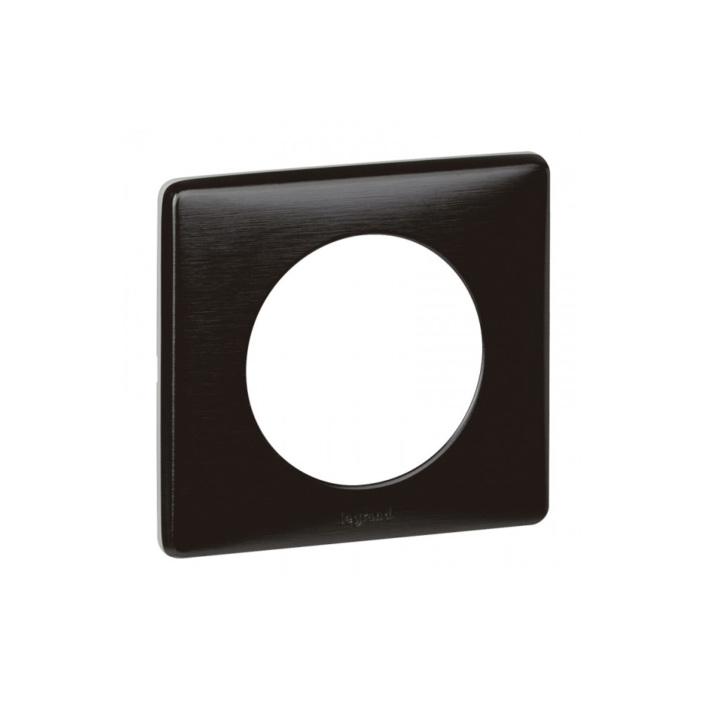 plaque legrand c liane 1 poste carbone 9 10. Black Bedroom Furniture Sets. Home Design Ideas