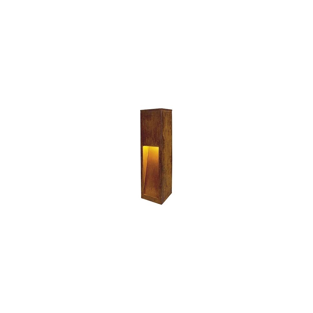borne lumineuse ext rieure e27 11 w slv rusty slot 50. Black Bedroom Furniture Sets. Home Design Ideas