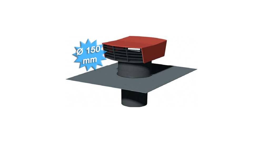 chapeau de toiture plastique tuile diam tre 150 mm 91 73. Black Bedroom Furniture Sets. Home Design Ideas