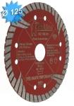 Disque diamant diamètre 125 mm pour matériaux durs et très durs