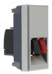 Prise haut-parleur - 1 module - Bticino Axolute Aluminium