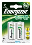 Pile rechargeable - Energizer Recharge Power Plus - LR14 - 1.5 Volts - Blister de 2