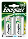 Pile rechargeable - Energizer Recharge Power Plus - LR20 - 1.5 Volts - Blister de 2