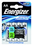 Pile lithium Energizer Ultimate - LR6 - 1.5 Volts - Blister de 4 piles