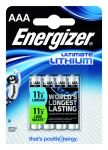 Pile lithium Energizer Ultimate - LR03 - 1.5 Volts - Blister de 4 piles