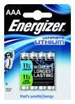 Pile lithium Energizer Ultimate - LR03 - 1.5 Volts - Blister de 4 piles
