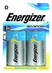 Pile alcaline Energizer Advanced - LR20 - 1.5 Volts - Blister de 2 piles