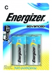 Pile alcaline Energizer Advanced - LR14 - 1.5 Volts - Blister de 2 piles