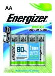 Pile alcaline Energizer Eco Advanced - LR6 - 1.5 Volts - Blister de 4 piles