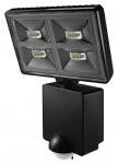 Projecteur à LED 4 x 8 Watts noir avec détecteur de mouvement Theben