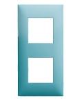Plaque 2 postes Arnould Espace Evolution Turquoise