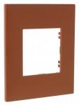 Plaque 1 poste Arnould Espace Evolution Terracotta