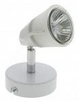 Spot orientable saillie 230V halogène 50W GU10 Aric Diam 01 blanc