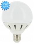 Ampoule à LED Vision-EL E27 Globe 10W 4000K 230 Volts