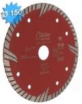 Disque diamant diamètre 150 mm pour matériaux durs et très durs