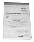 Carnet de ramonage - 50 feuilles - Progalva 836099