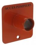 .Contacteur à clé triangle accès pompier - Plastron avec Tube