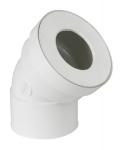 Pipe coudée pour WC - Courte - Diamètre 100 mm - Femelle - Nicoll CW433F