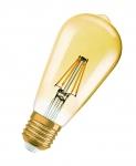 Ampoule à LED - Osram LEDFIL EDISON VINTAGE 1906 - E27 - 2.8W - CLE21 - Verre Ambre - Osram 808706